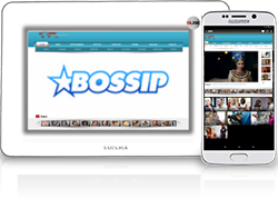 Bossip is an online gossip and entertainment magazine with a black focus. The site is owned by Moguldom Media Group whose owners are private. Bossip is based in Atlanta. Bossip has interviewed celebrities such as Kanye West, Janet Jackson, Sanaa Lathan, Russell Simmons and Damon Dash. Another exclusive interview Bossip had done is with Kim Kardashian, talking about her life, career, relationships and the infamous sex tape with R&B singer and younger brother of Brandy, Ray J.